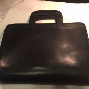 Other - Monarch leather portfolio case with handles black